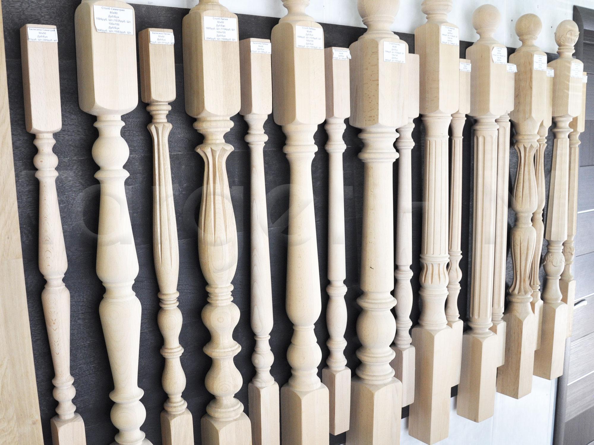 Купить балясины из дерева - цены на резные деревянные